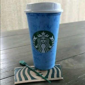 Starbucks Blue Hot Cup
